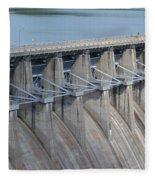 Beaver Dam Spillway Gates Fleece Blanket