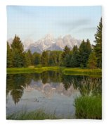 Beaver Pond At Schwabacher Landing Fleece Blanket