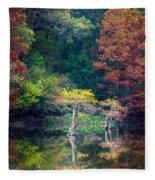 Beavers Bend Trees Fleece Blanket