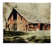 Beckys Barn 1 Fleece Blanket