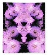 Bed Of Pink Dahlias Fleece Blanket