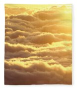 Bed Of Puffy Clouds Fleece Blanket