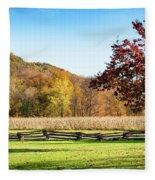 Bedford, Pa Fall Landscape Fleece Blanket