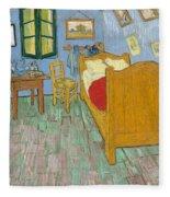 Bedroom At Arles Fleece Blanket