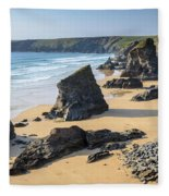 Bedruthan Steps, Cornwall Fleece Blanket