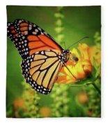 Bee And Butterfly Fleece Blanket
