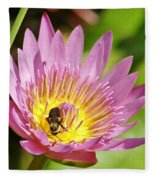 Bee And The Lily Fleece Blanket