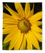 Bee And Yellow Flower Fleece Blanket