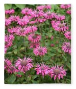 Bee Balm Beauties Fleece Blanket
