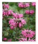 Bee Balm Fleece Blanket