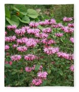 Bee Balm Garden Fleece Blanket