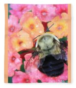 Bee Card Fleece Blanket