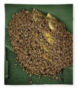 Bee Cluster Fleece Blanket