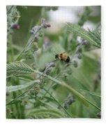 Bee In Flight Fleece Blanket