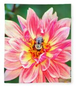 Bee In The Center Fleece Blanket