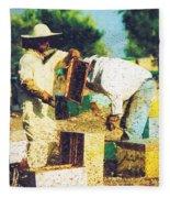 Bee Keepers Fleece Blanket