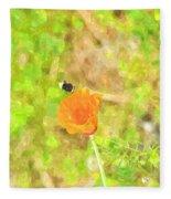 Bee My Flower Fleece Blanket