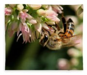 Bee On Flower 1 Fleece Blanket