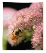Bee On Flower 3 Fleece Blanket