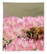 Bee On Flower 5 Fleece Blanket
