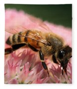 Bee On Flower 6 Fleece Blanket