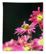Bee On Flower Spring Scene Fleece Blanket