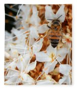 Bee On Flowers 2 Fleece Blanket
