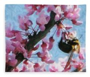 Bee To The Blossom Fleece Blanket