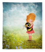 Bee Whisperer Fleece Blanket