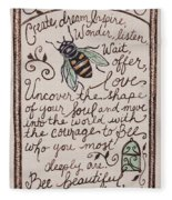 Bee You Fleece Blanket