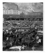 Beef Industry, C1903 Fleece Blanket