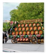 Beer Barrels On Cart Fleece Blanket