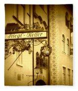 Beer Cellar In Salzburg Fleece Blanket