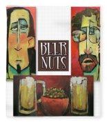 Beer Nuts Fleece Blanket
