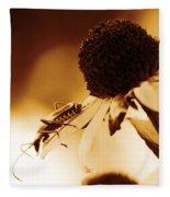 Beetle And Black Eyed Susan Fleece Blanket