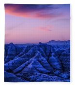 Before Sunrise, Badlands National Park Fleece Blanket