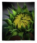 Beginnings Sunflower Xiii Fleece Blanket