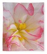 Begonia Pink Frills - Horizontal Fleece Blanket