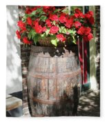 Begonias In The Barrel Fleece Blanket