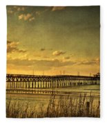 Behind Cherry Grove Pier  Fleece Blanket