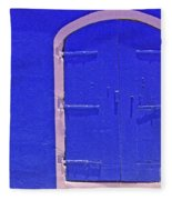Behind The Blue Door Fleece Blanket