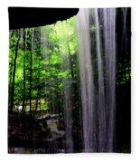Behind The Falls Fleece Blanket