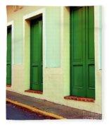 Behind The Green Doors Fleece Blanket