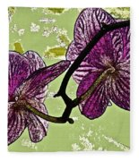 Behind The Orchids Fleece Blanket