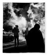 Behind The Smoke Fleece Blanket