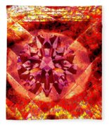 Behold The Jeweled Eye Of Blood Fleece Blanket