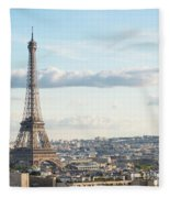 Paris Roofs And Tower Fleece Blanket
