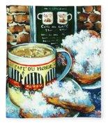 Beignets And Cafe Au Lait Fleece Blanket