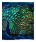 Being Yourself - Peacock Art Fleece Blanket