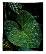 Bejeweled Leaf Fleece Blanket